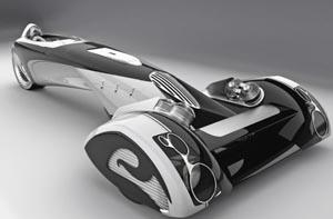 Футуристический автомобиль Пежо
