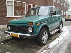 Нива в Голландии, город Утрехт, январь 2010 года.